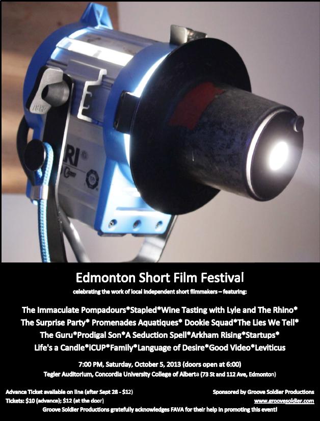 2013 Edmonton Short Film Festival Poster